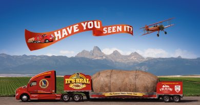 Big Idaho Potato Visits Clay County, North Carolina